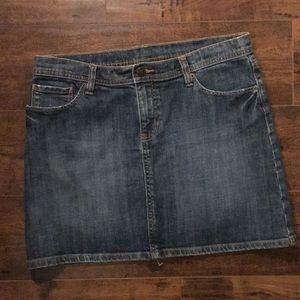 GAP denim mini skirt